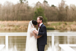 First Look from Bride and Groom in their Memphis Wedding Photography