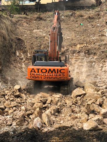 Alpine Road Rock Demolition
