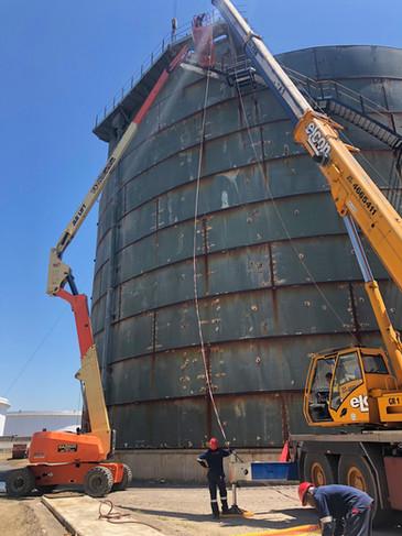 Transnet Accumulator Tank Demolition