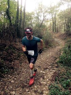 Compétition trail - podium 1er Sen