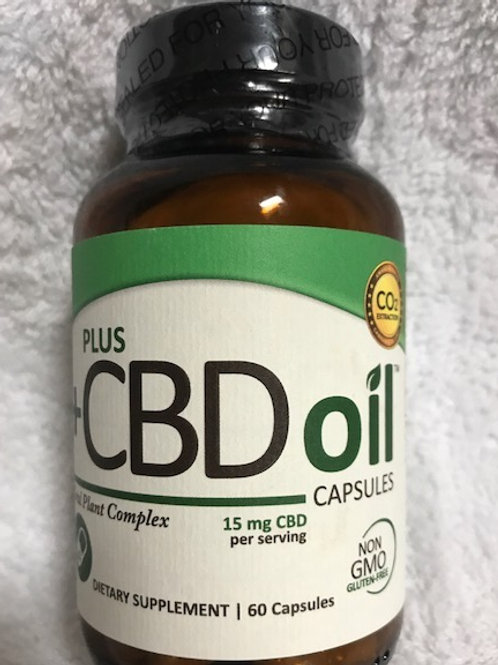 Plus CBD Oil Capsules 15mg 60 Capsules