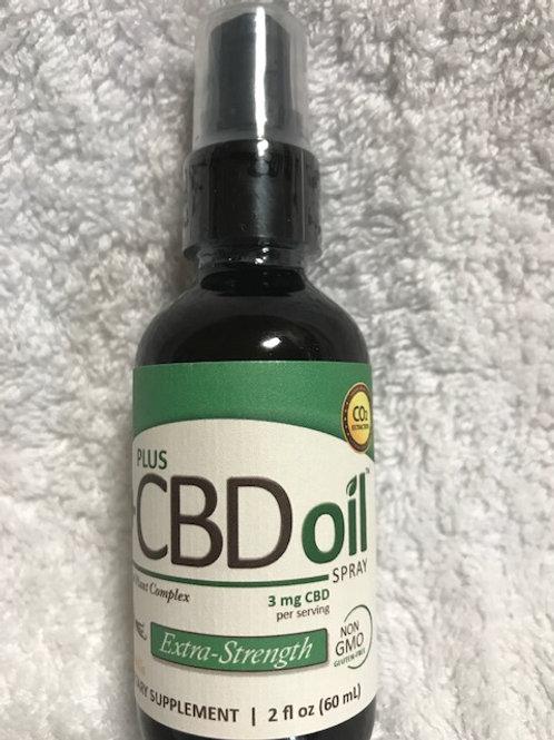 Plus CBD Oil Spray 3mg, 2 fl oz