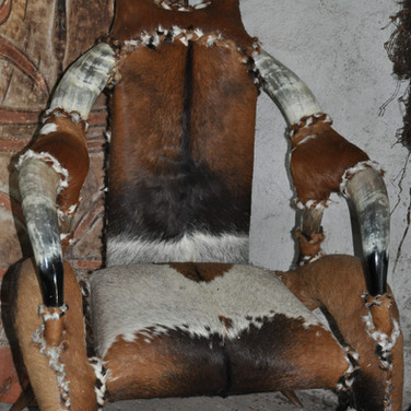 MOBILIER (4) fauteuil cornes de zebus