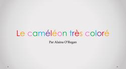 Le caméléon très coloré