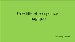 Une fille et son prince magique