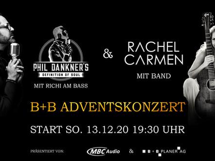 B+B Adventskonzert (Livestream) vom So, 13.12.20