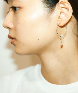 氷 Hoop pierce/earring
