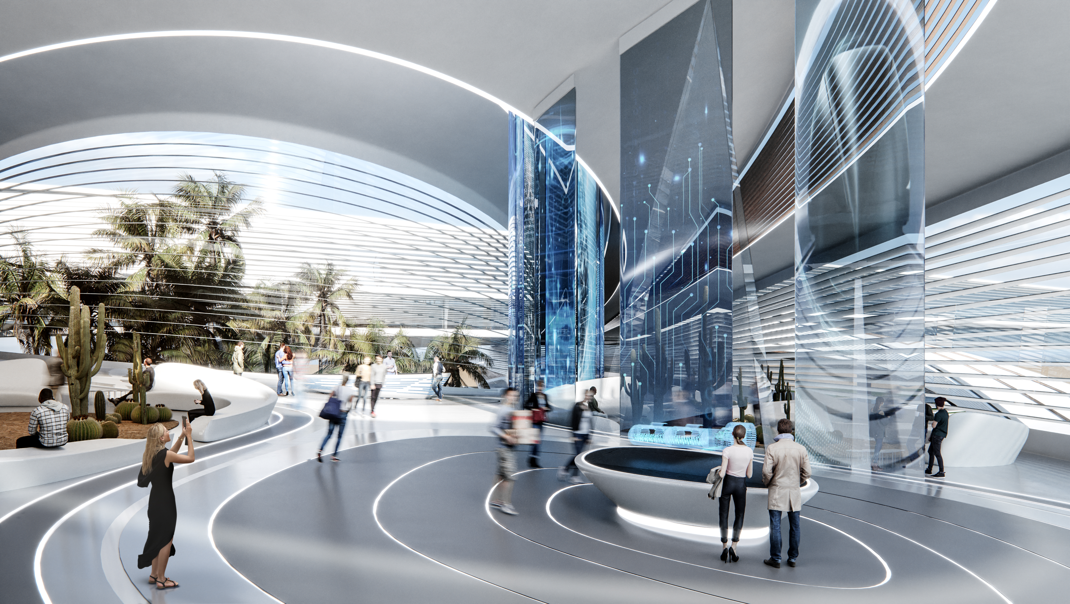 Hyperloop Desert Campus Lobby