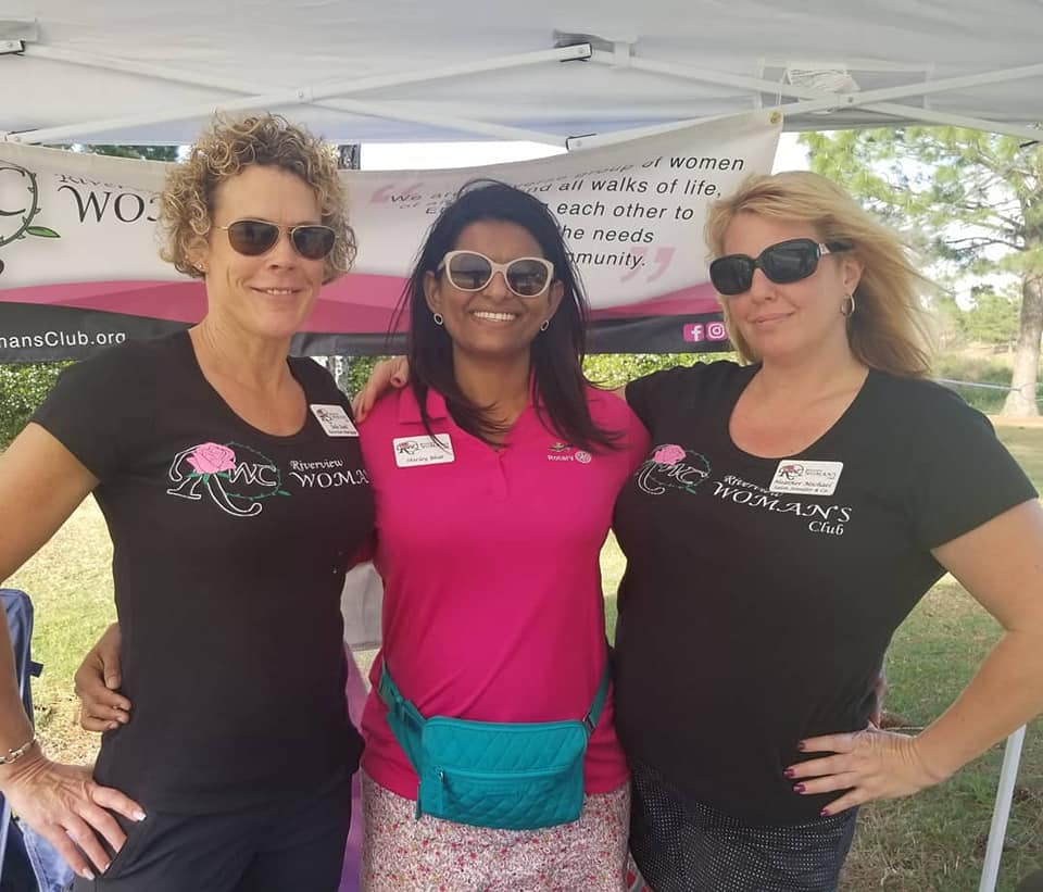 From left, Riverview Woman's Club members Julie Dahl, Shirley Bhat and Heather Michel are shown at one of several social, fundraising and networking events that the Riverview Woman's Club participated in during the first Quarter of 2019.