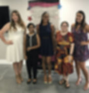 Recipients of the Riverview Woman's Club 2019 college scholarships were recognized at the club's luncheon on June 19, 2019.  From left, Blyss Bolger, Savita Singh, Shayla Webster, Angelena Baldi and Lianna Becker.