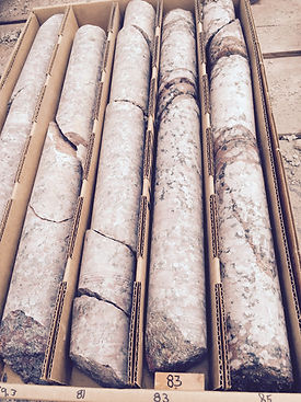 Core Samples Granite Parkdale Quarry Jul