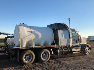 Semi with 2,000 Gallon Water Tank