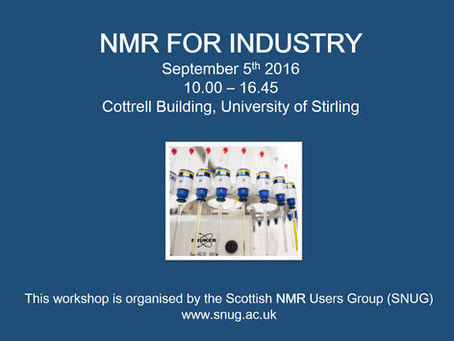 NMR for Industry workshop