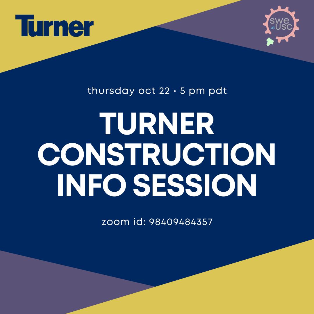 Turner construction info session