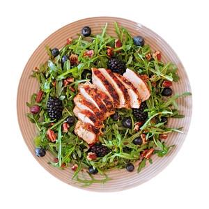 Organic Chicken, Berry & Arugula Salad