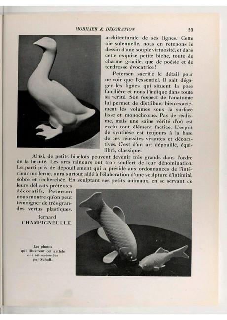Armand Petersen - Mobilier et décoration - Janvier 1933