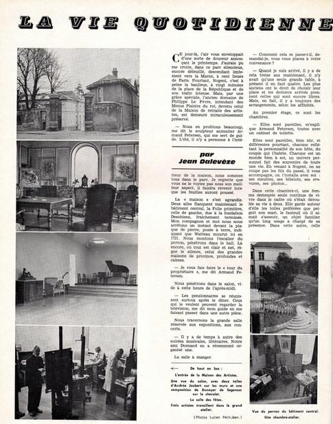Armand Petersen - interview à la maison des artistes