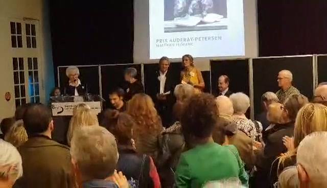 Prix Audfray-Petersen lors du vernissage du Salon des Artistes Animaliers à  Matthieu Floranc