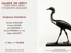 Armand Petersen - Exposition à la galerie de Crécy-la-Chapelle