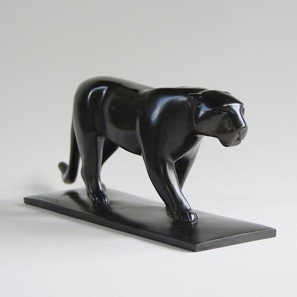 Armand Petersen - Grande Panthère queue plate et traînante
