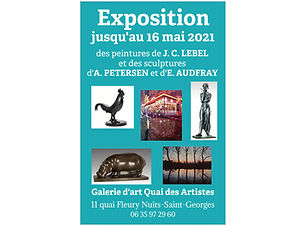 Affiche expo PETERSEN AUDFRAY LEBEL 2021