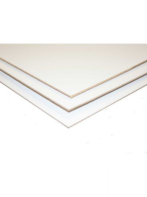 BOARD MASONITE WHITE 2.44MX1.22M 3MM