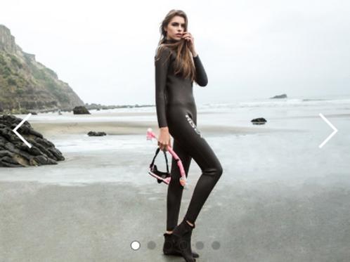 Hisea wet suit 專業潛水服 鐵人三項 光皮衝浪服保暖 男女款 防曬防水3mm 潛水衣
