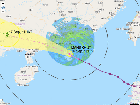 Tropical Cyclone Mangkhut in Hong Kong