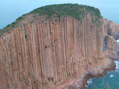 Rare natural hexagonal rock columns - Sai Kung Geopark
