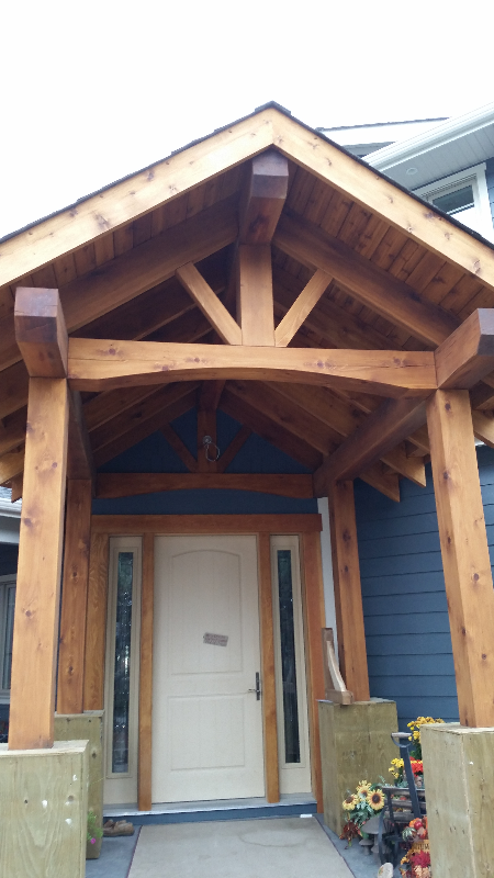 timberframe entrance