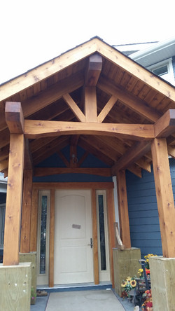 timberframe entrance