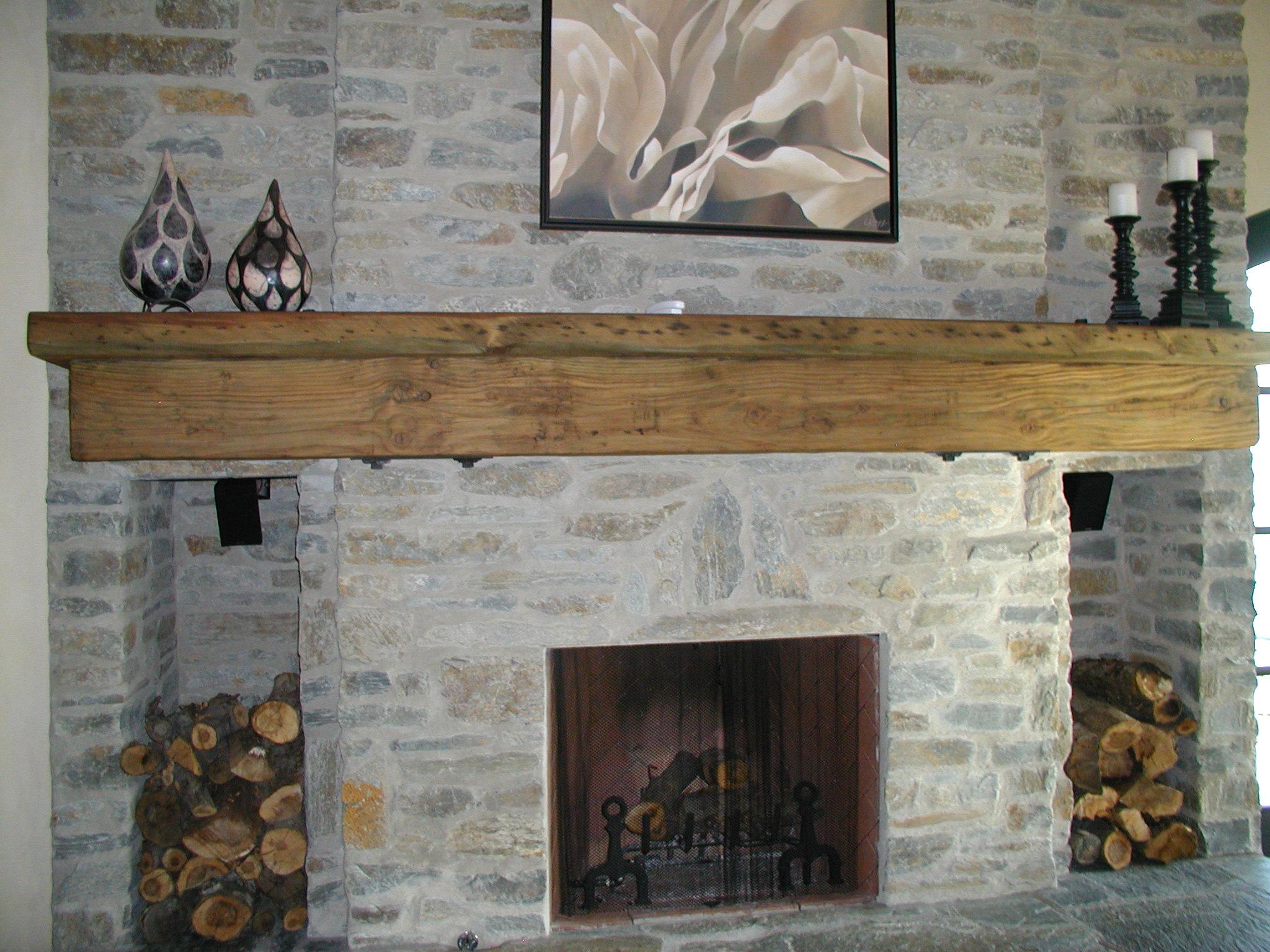 Rustic Fireplace Mantel