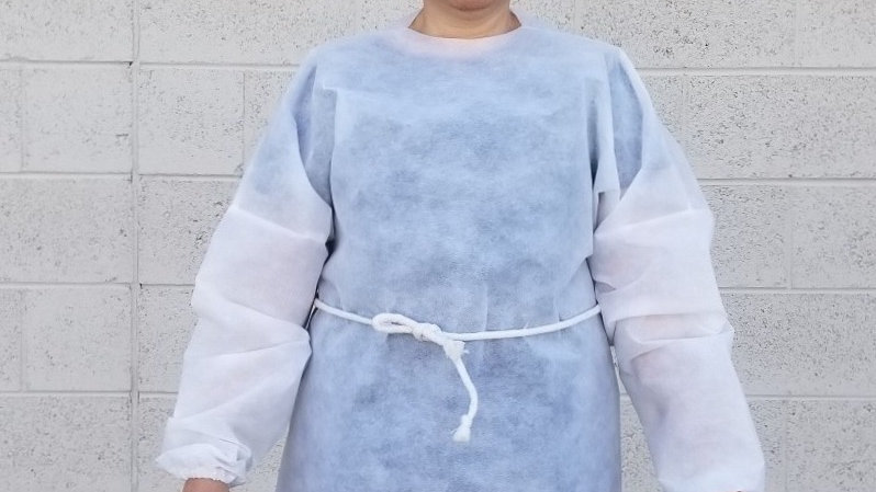 Short Protective Gown