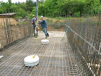 Закладные из пенопласта при строительстве бетонного бассейна