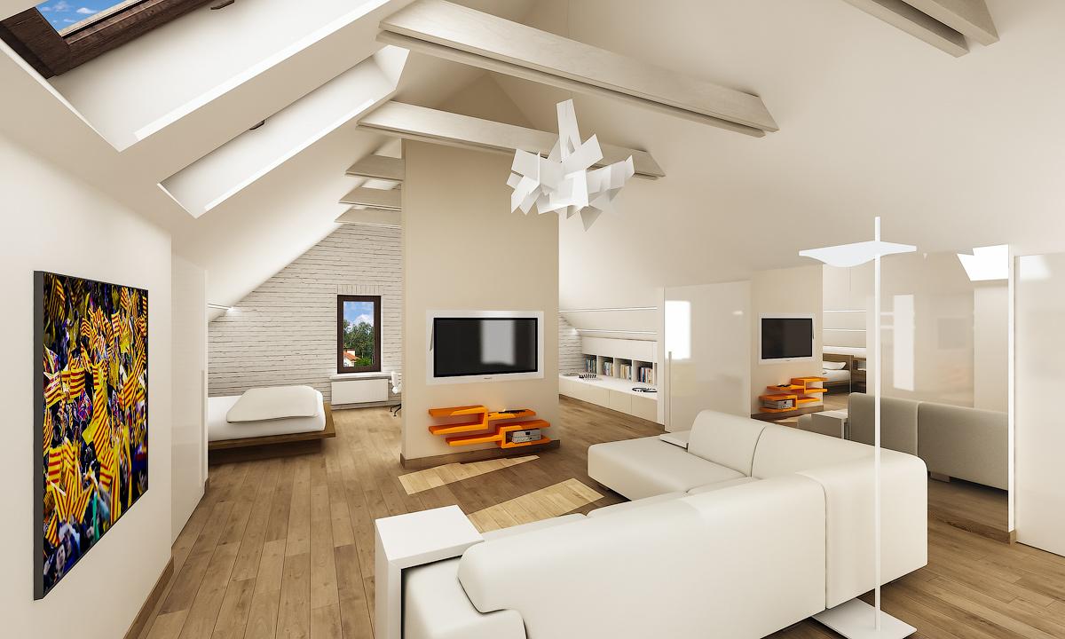 Мансардный этаж частного дома