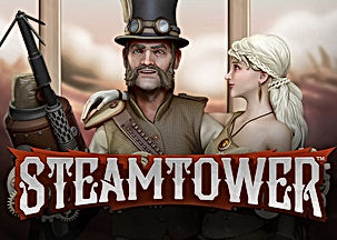 steam tower logo netent net entertainment gamblers paradise online slots review