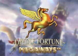 divine fortune megaways logo netent net entertainment gamblers paradise online slots review