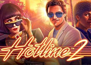 hotline 2 logo netent net entertainment gamblers paradise online slots review