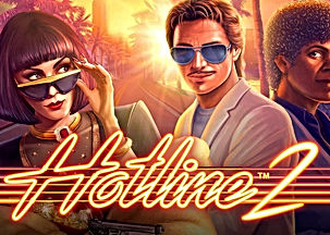 hotline 2 logo netent net entertainment gamblers paradise online slots review