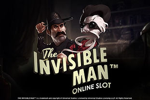 the invisible man logo netent net entertainment gamblers paradise online slots review