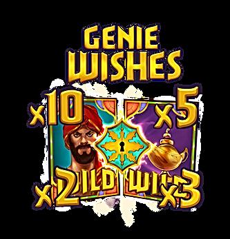 golden genie genie wishes aladdin and lamp wilds multiplier nolimit city