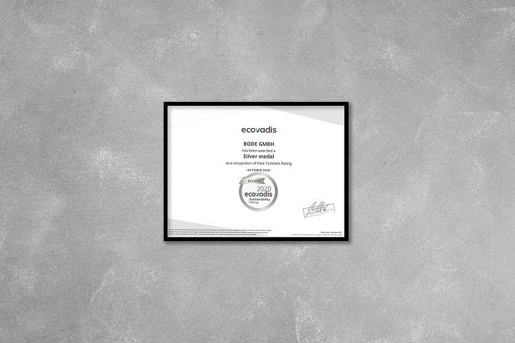 Bode GmbH - Ecovadis Medaille silber 202