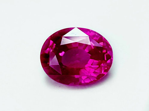 2.52 CT Unheated Certified Natural Deep Pink Sapphire