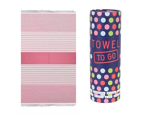 Towel to Go Bali Hammam Towel Fuchsia/Pink, with Gift Box