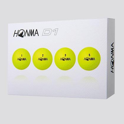 Honma D1 Yellow Golf Balls (Dozen)