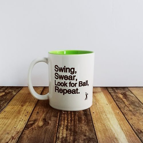 Golf Gift – Swing Swear Look for Ball – Ceramic Mug