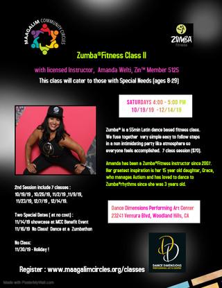 Zumba Dance Class II 10_19 to 12_14  RW