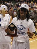 Akeema Richards wins CAA Championship