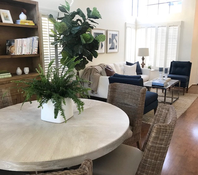 Dining Room and Living Room in my Coastal Transitional Project. Shelley Sass Designs  www.shelleysassdesigns.com 858-255-9050 shelley@shelleysassdesigns.com #interiordesign  #remodeling #homestaging #interiorinspiration