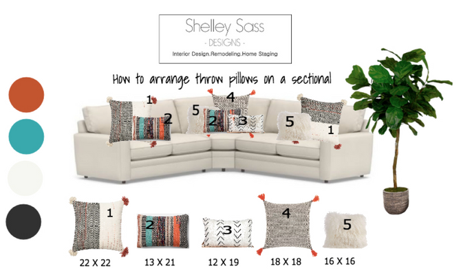 How to arrange throw pillows on your sectional